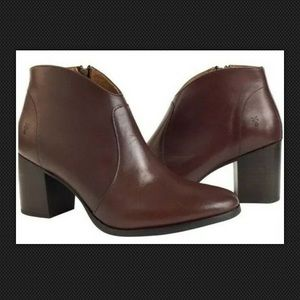 FRYE Nora ankle boots 8.5 Women Redwood Leather